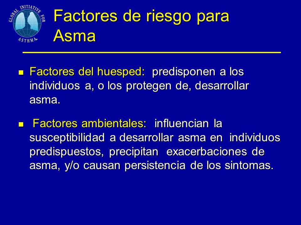 Factores de riesgo para Asma