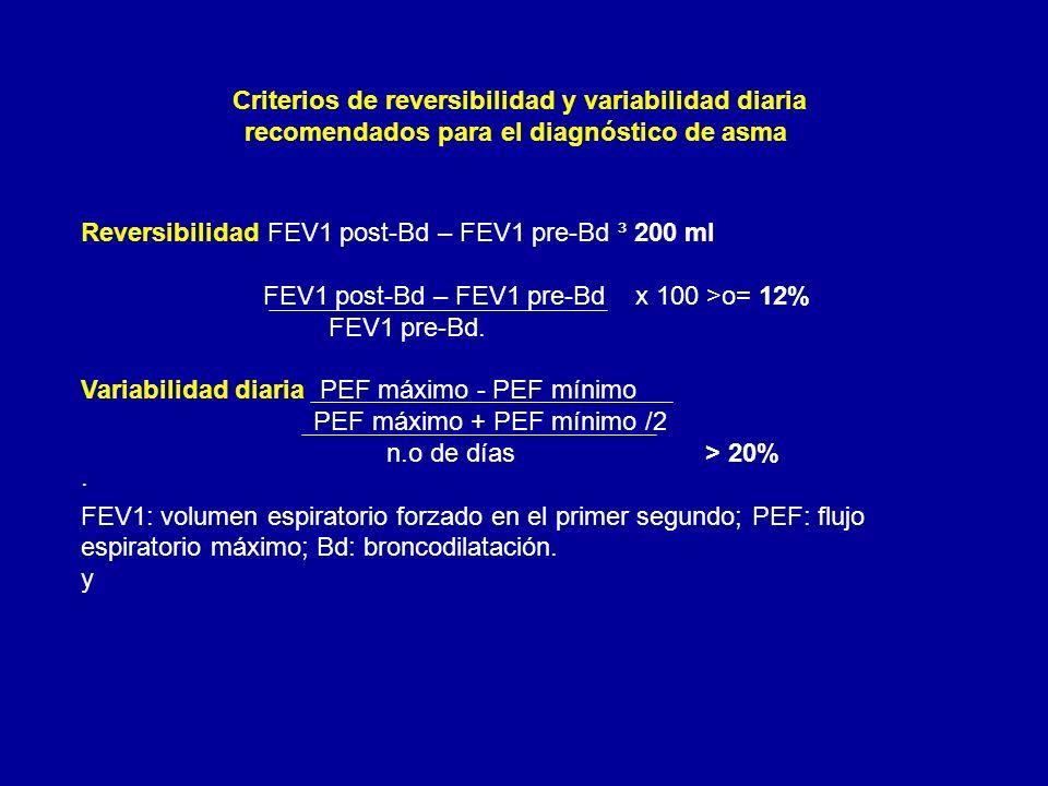 Criterios de reversibilidad y variabilidad diaria