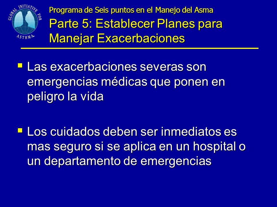 Programa de Seis puntos en el Manejo del Asma Parte 5: Establecer Planes para Manejar Exacerbaciones