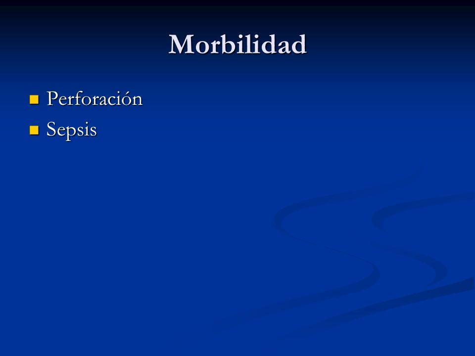Morbilidad Perforación Sepsis