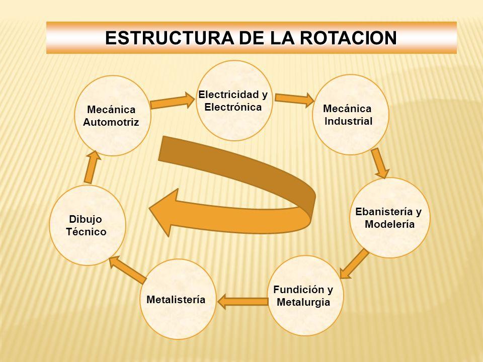 ESTRUCTURA DE LA ROTACION
