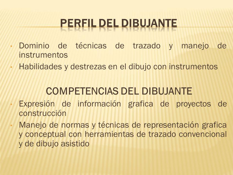 COMPETENCIAS DEL DIBUJANTE