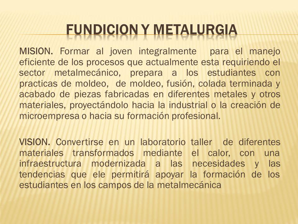 FUNDICION Y METALURGIA