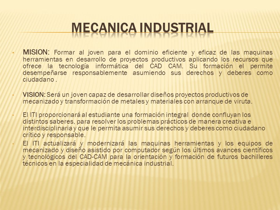 MECANICA INDUSTRIAL