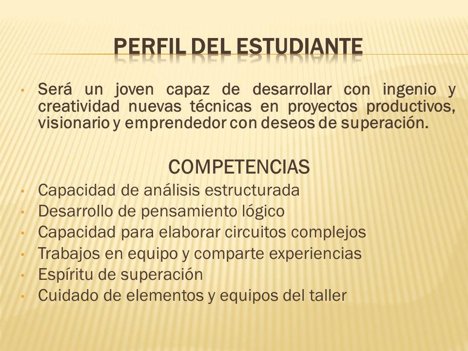 PERFIL DEL ESTUDIANTE COMPETENCIAS