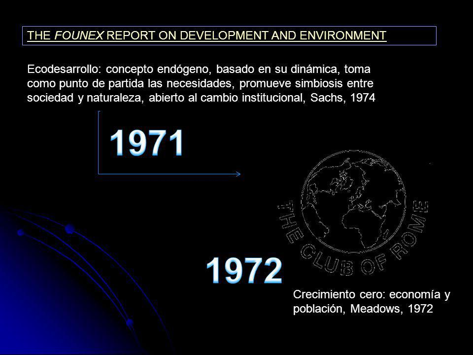 1971 1972 THE FOUNEX REPORT ON DEVELOPMENT AND ENVIRONMENT