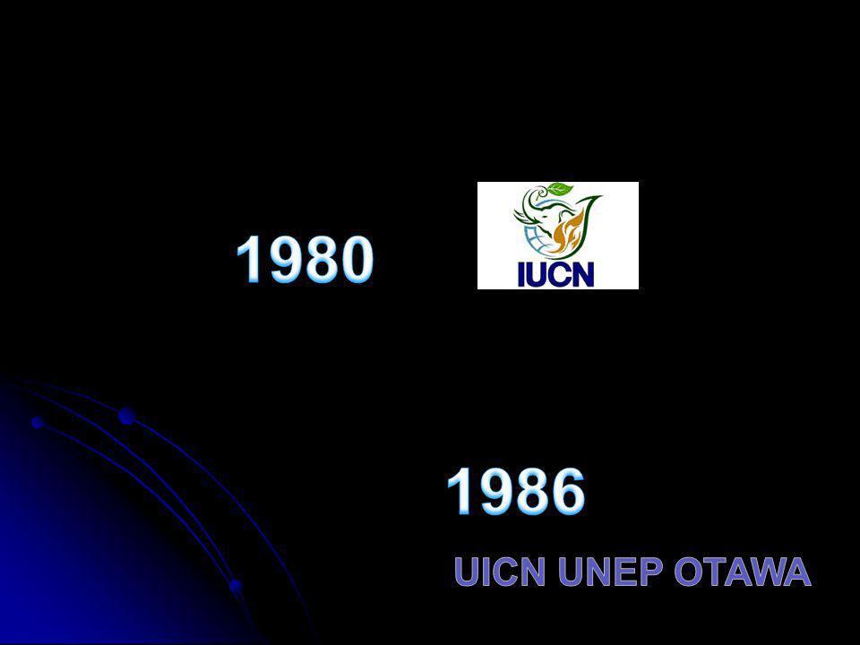 1980 1986 UICN UNEP OTAWA