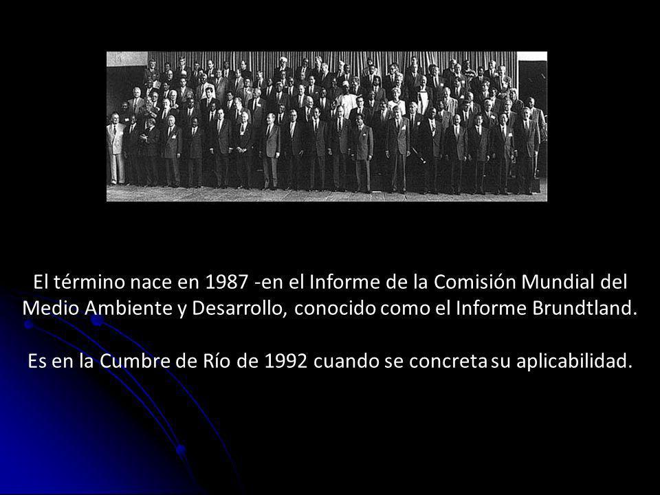 Es en la Cumbre de Río de 1992 cuando se concreta su aplicabilidad.