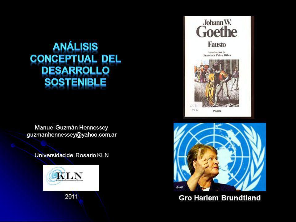 Análisis conceptual del desarrollo sostenible