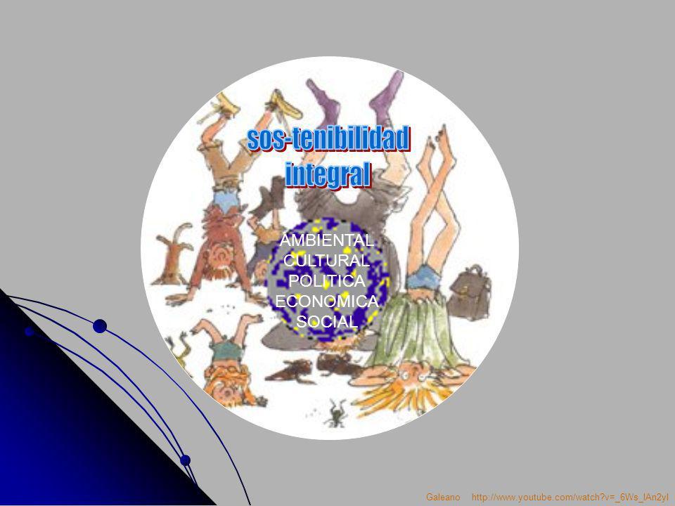 sos-tenibilidad integral AMBIENTAL CULTURAL POLITICA ECONOMICA SOCIAL