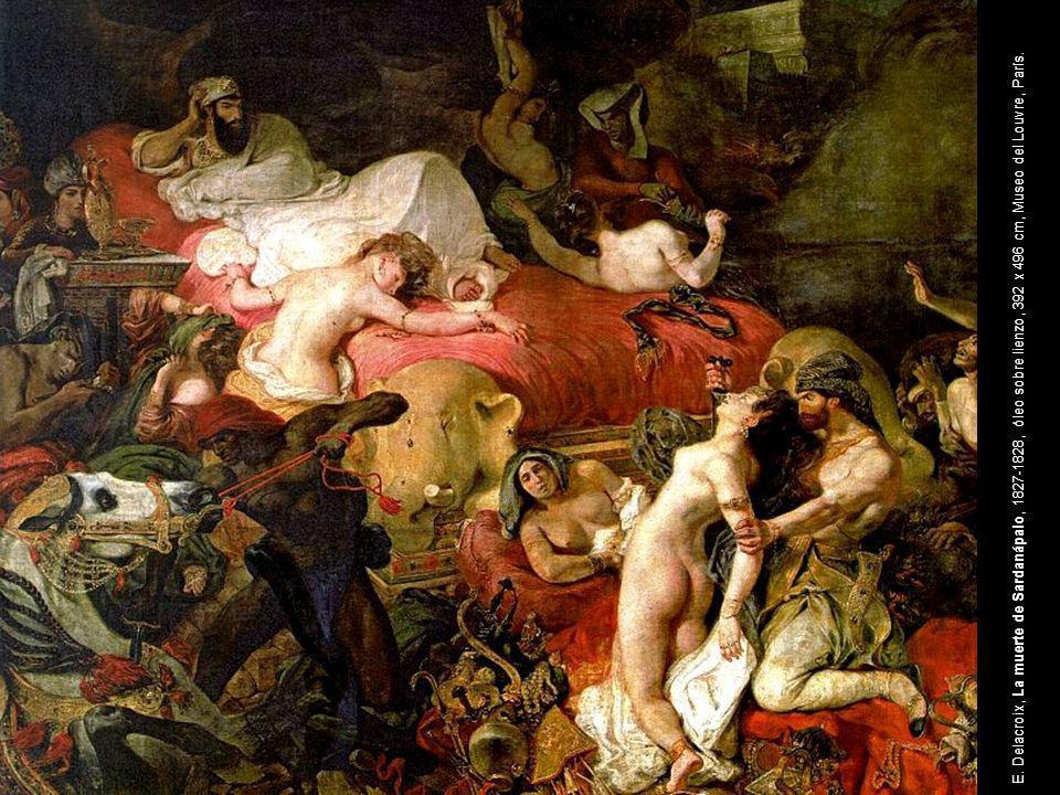 Eugene Delacroix, La muerte de Sardanápalo,1827