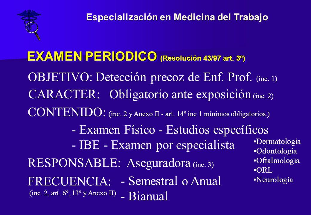 EXAMEN PERIODICO (Resolución 43/97 art. 3º)