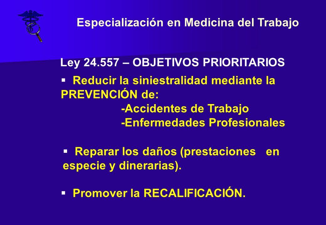 Especialización en Medicina del Trabajo