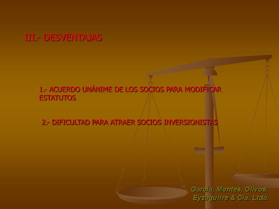 III.- DESVENTAJAS 1.- ACUERDO UNÁNIME DE LOS SOCIOS PARA MODIFICAR