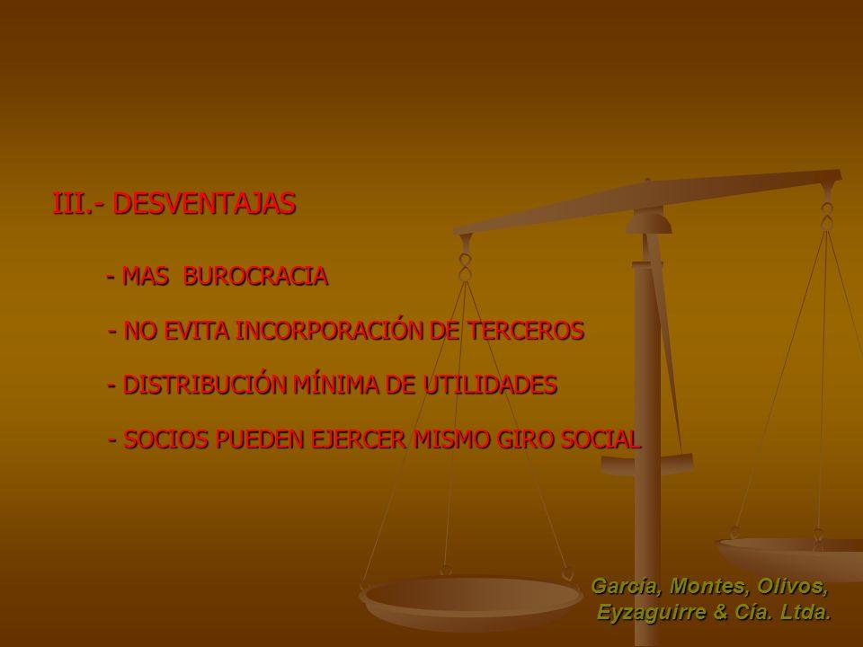 III.- DESVENTAJAS - MAS BUROCRACIA
