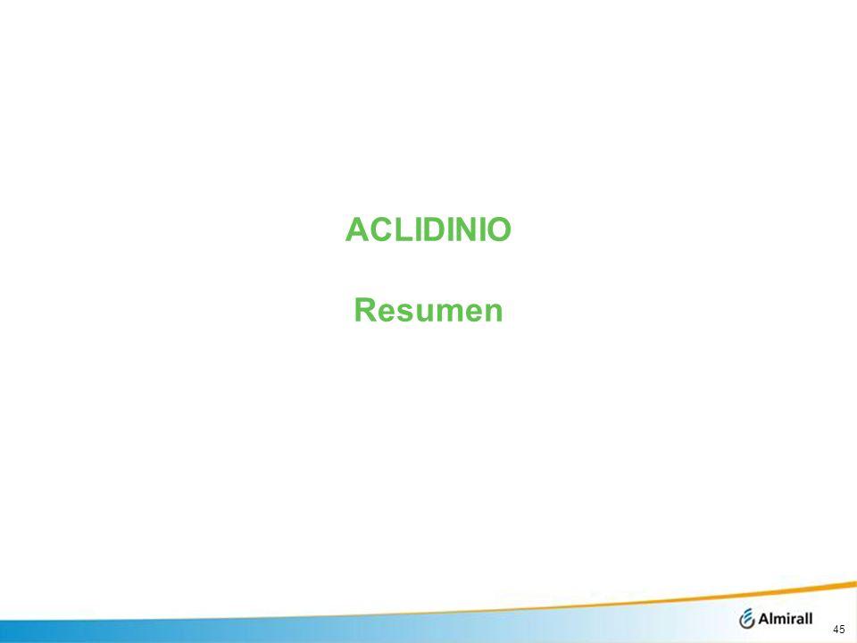 ACLIDINIO Resumen