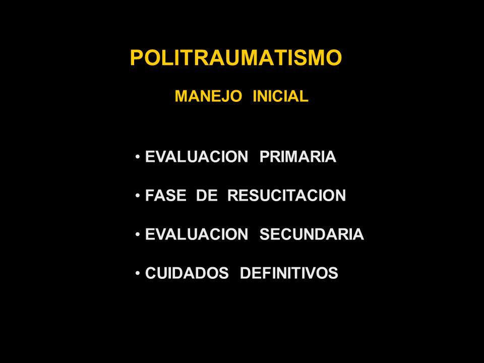 POLITRAUMATISMO MANEJO INICIAL EVALUACION PRIMARIA