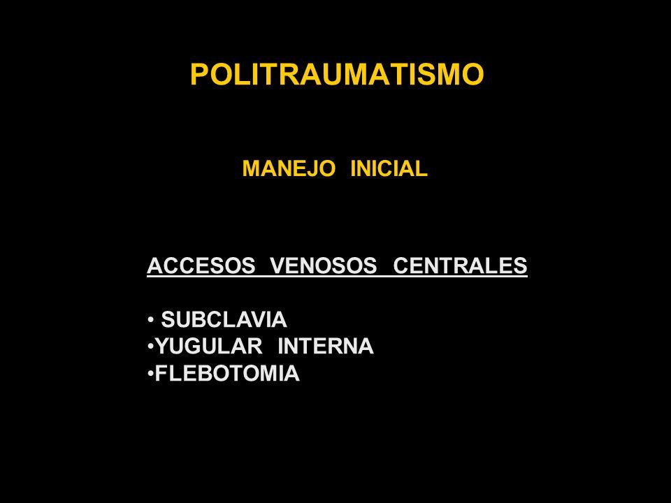 POLITRAUMATISMO MANEJO INICIAL ACCESOS VENOSOS CENTRALES SUBCLAVIA
