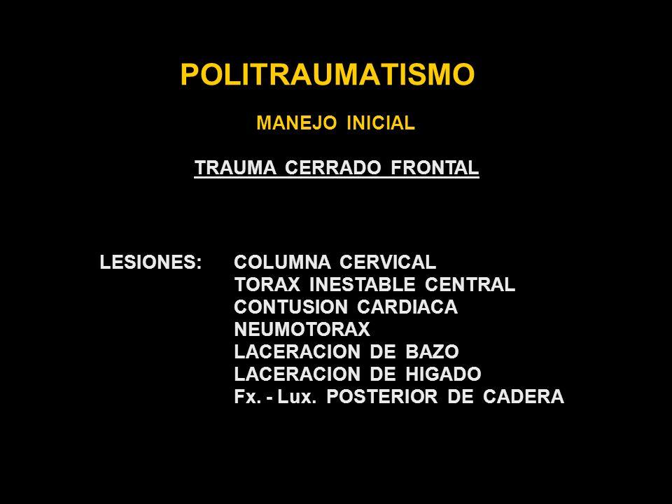 TRAUMA CERRADO FRONTAL