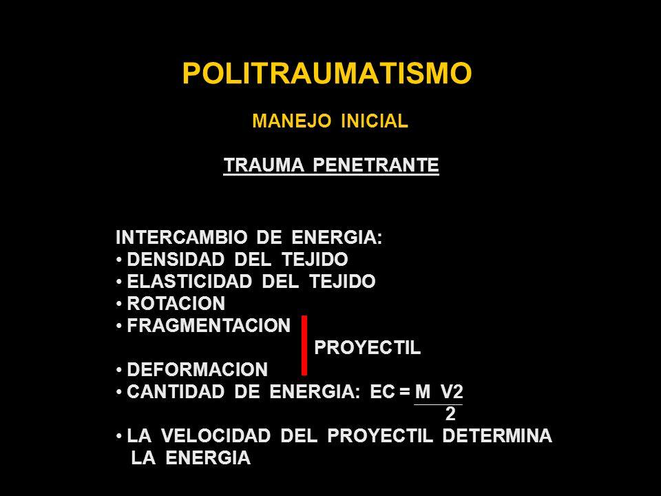 POLITRAUMATISMO MANEJO INICIAL TRAUMA PENETRANTE
