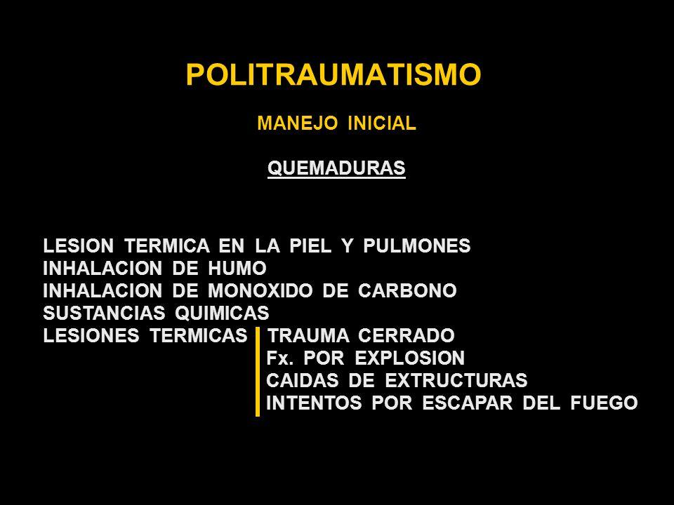 POLITRAUMATISMO MANEJO INICIAL QUEMADURAS