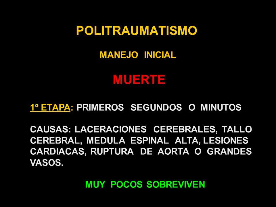 POLITRAUMATISMO MANEJO INICIAL MUERTE
