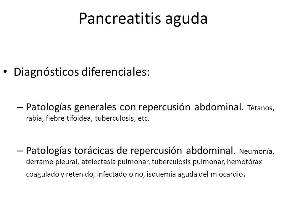 Pancreatitis aguda Diagnósticos diferenciales: