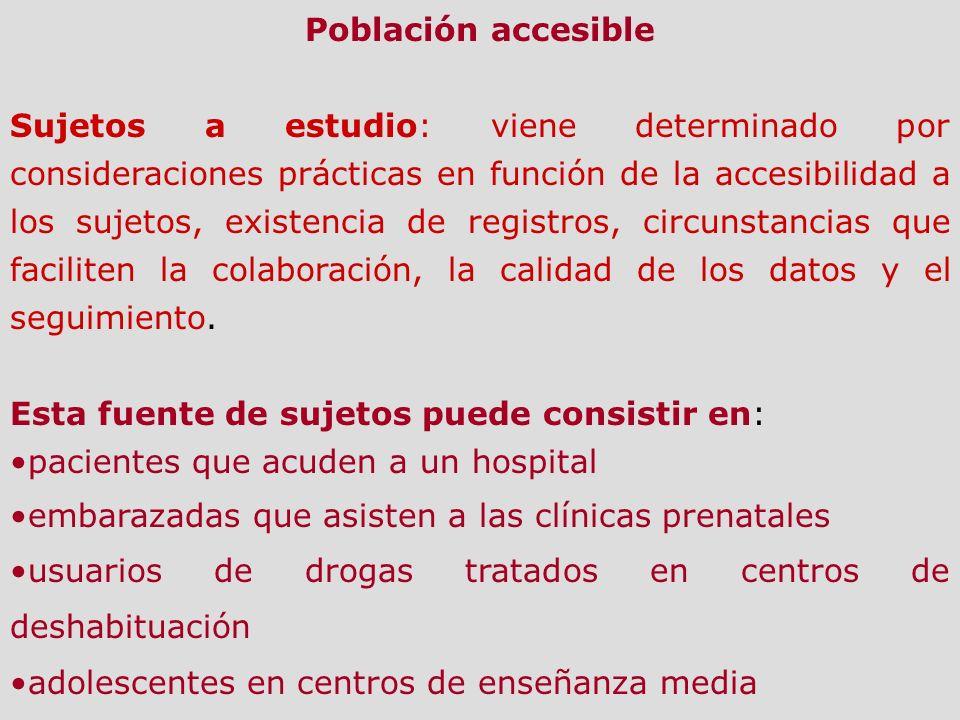 Población accesible