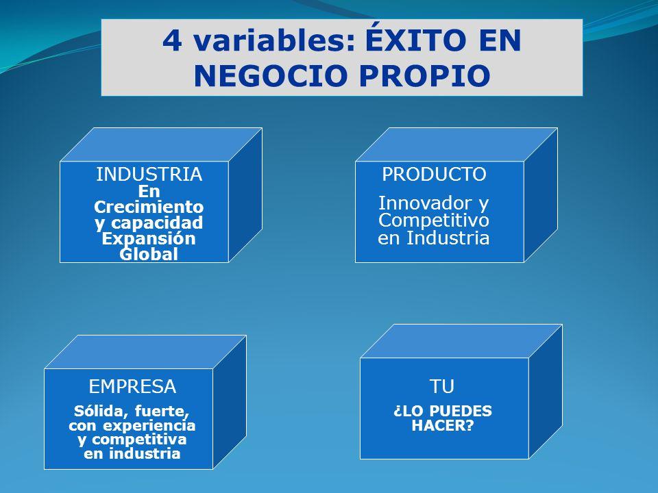 4 variables: ÉXITO EN NEGOCIO PROPIO