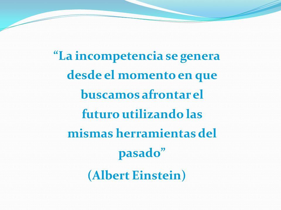 La incompetencia se genera desde el momento en que buscamos afrontar el futuro utilizando las mismas herramientas del pasado