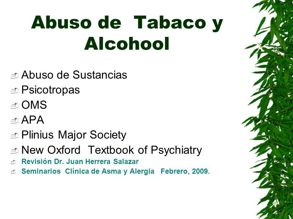 Abuso de Tabaco y Alcohool