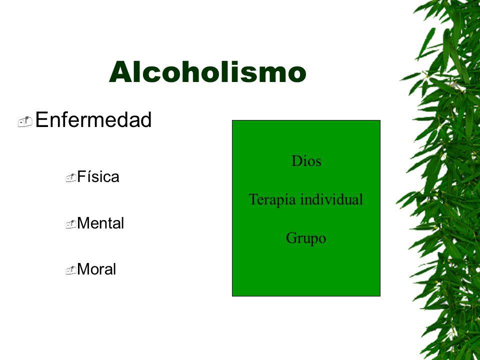 Alcoholismo Enfermedad Física Dios Terapia individual Mental Grupo