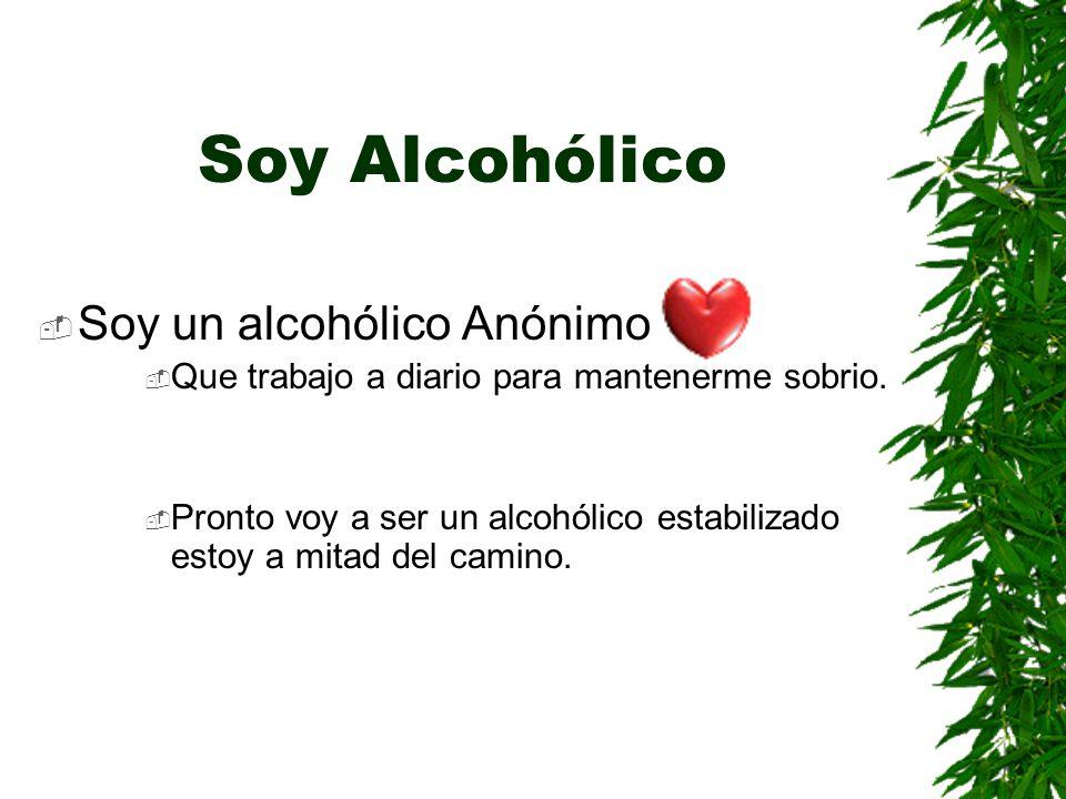 Soy Alcohólico Soy un alcohólico Anónimo