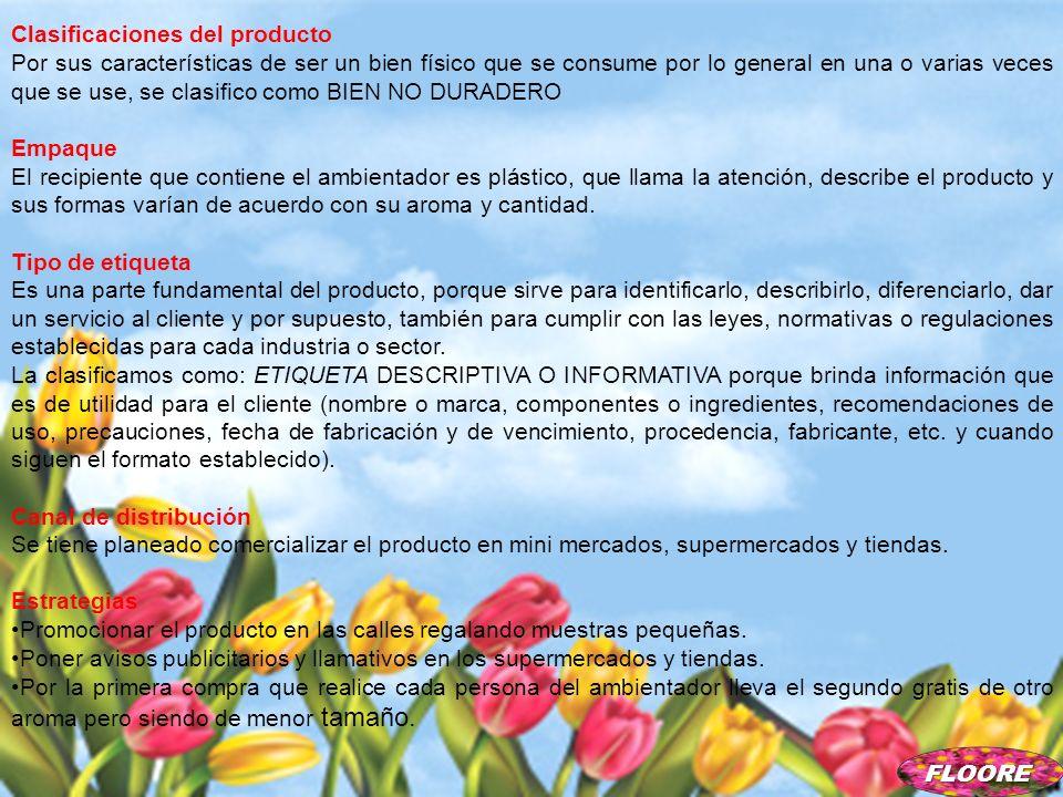 Clasificaciones del producto