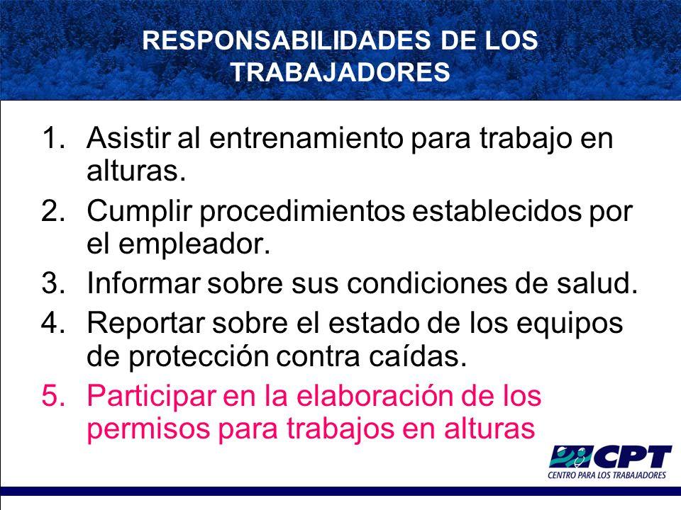 RESPONSABILIDADES DE LOS TRABAJADORES