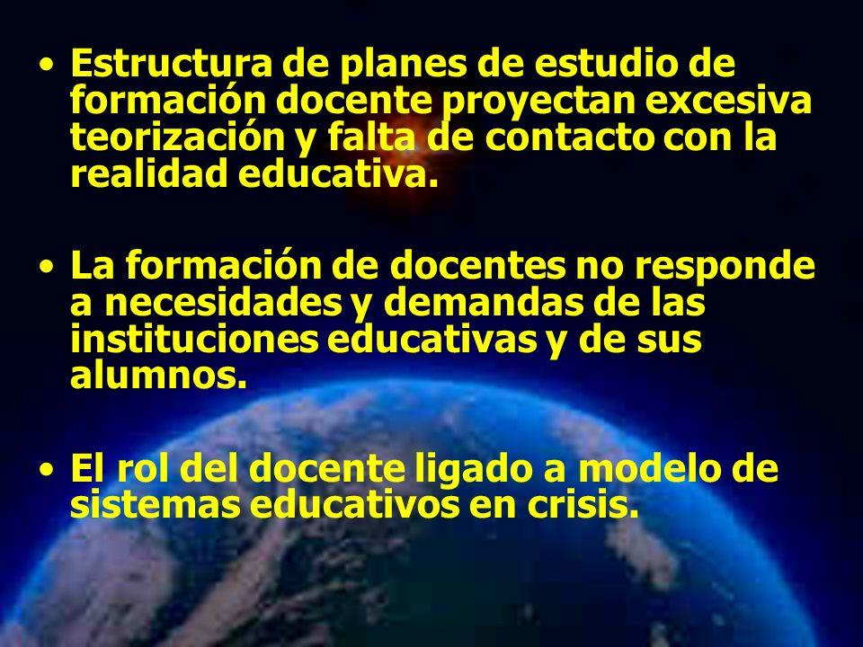 El rol del docente ligado a modelo de sistemas educativos en crisis.