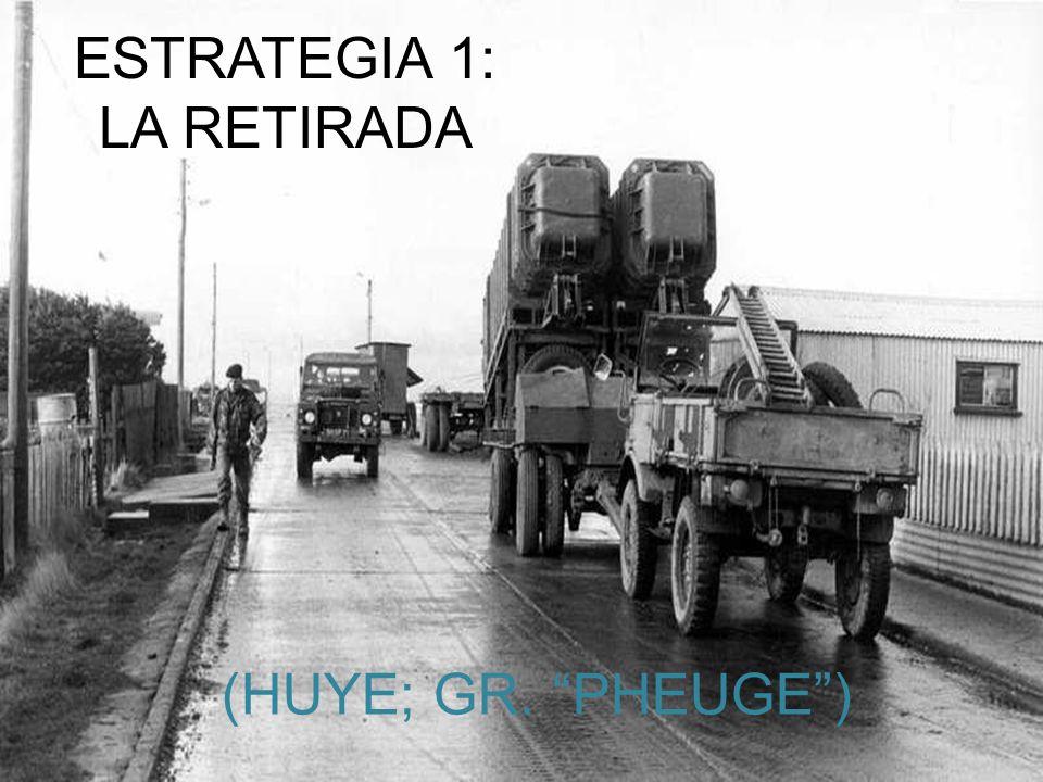 ESTRATEGIA 1: LA RETIRADA (HUYE; GR. PHEUGE )