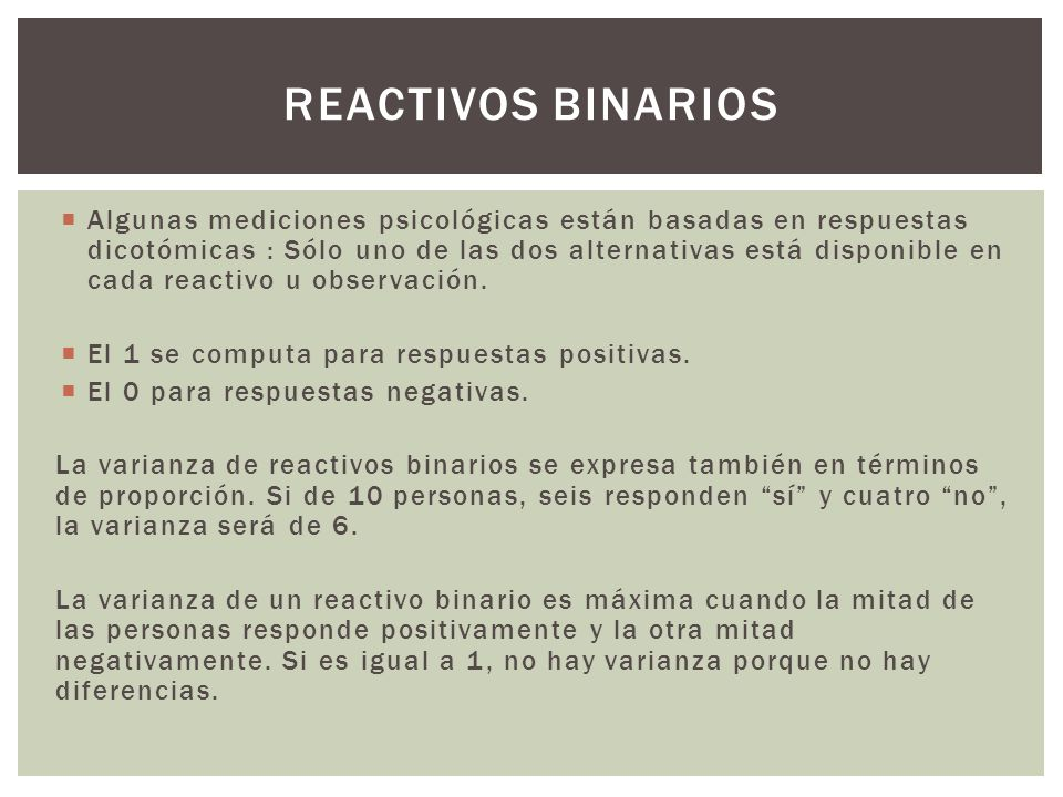 Reactivos binarios