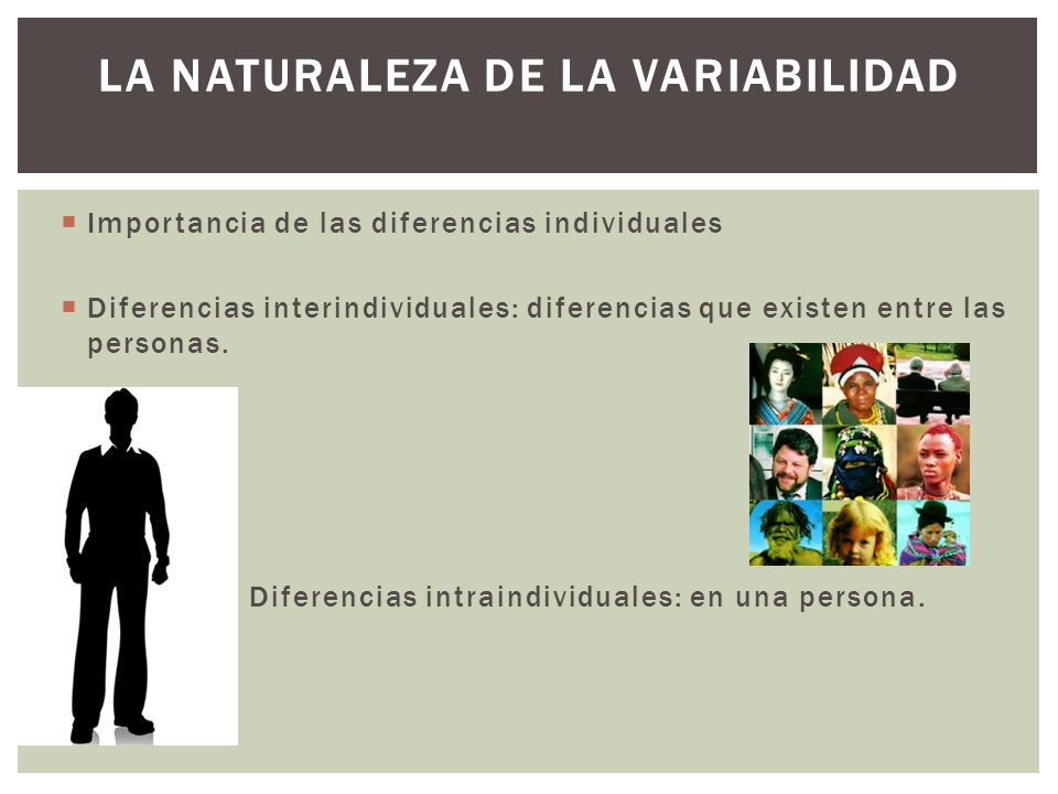 LA NATURALEZA DE LA VARIABILIDAD