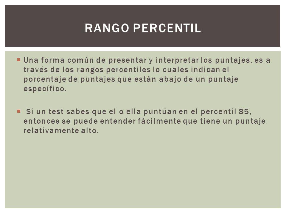 Rango percentil