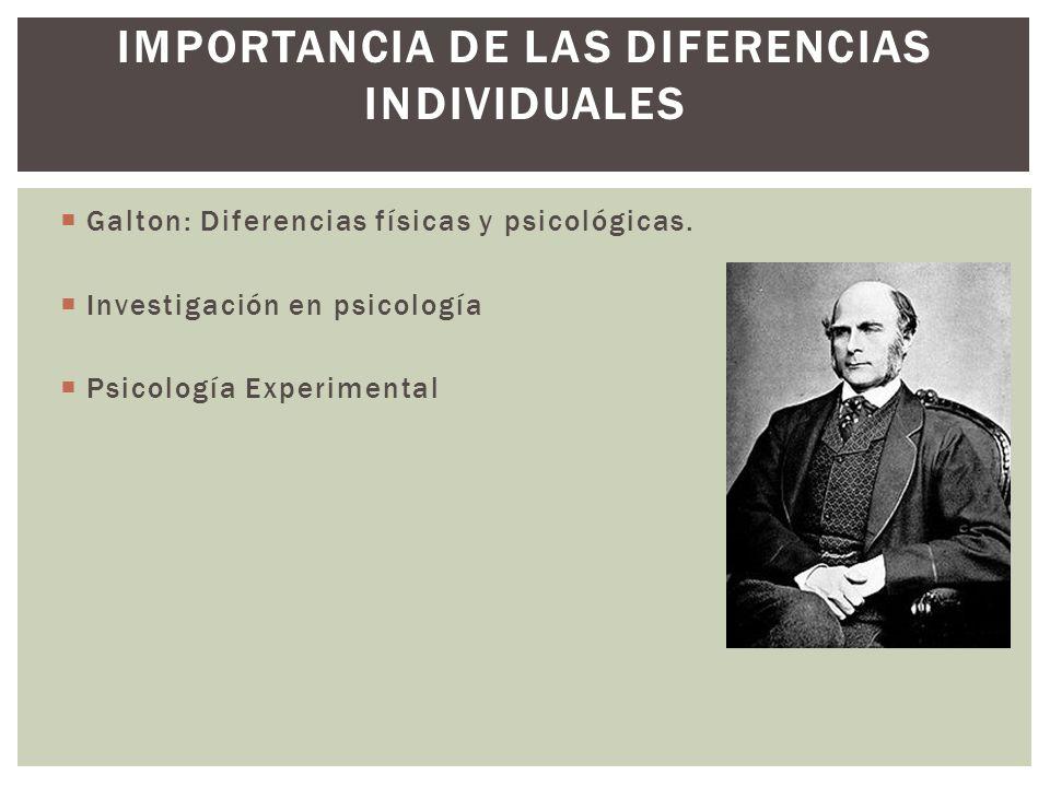 IMPORTANCIA DE LAS DIFERENCIAS INDIVIDUALES