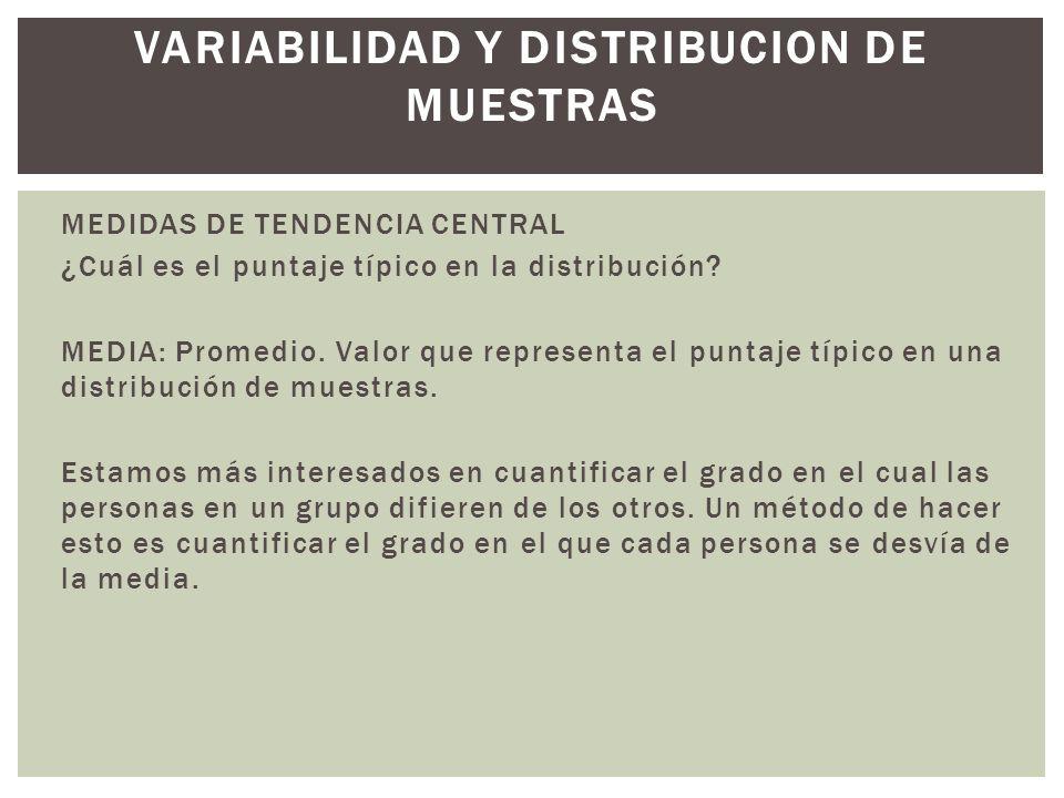 VARIABILIDAD Y DISTRIBUCION DE MUESTRAS
