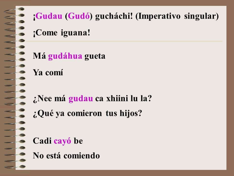 ¡Gudau (Gudó) gucháchi! (Imperativo singular)