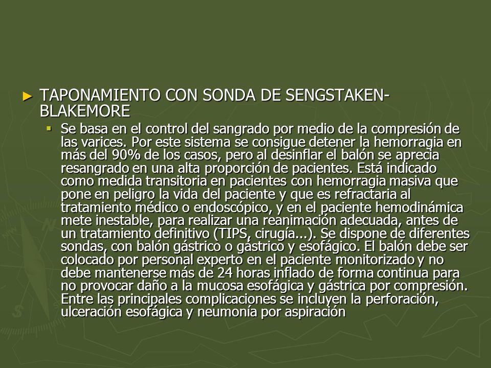 TAPONAMIENTO CON SONDA DE SENGSTAKEN-BLAKEMORE
