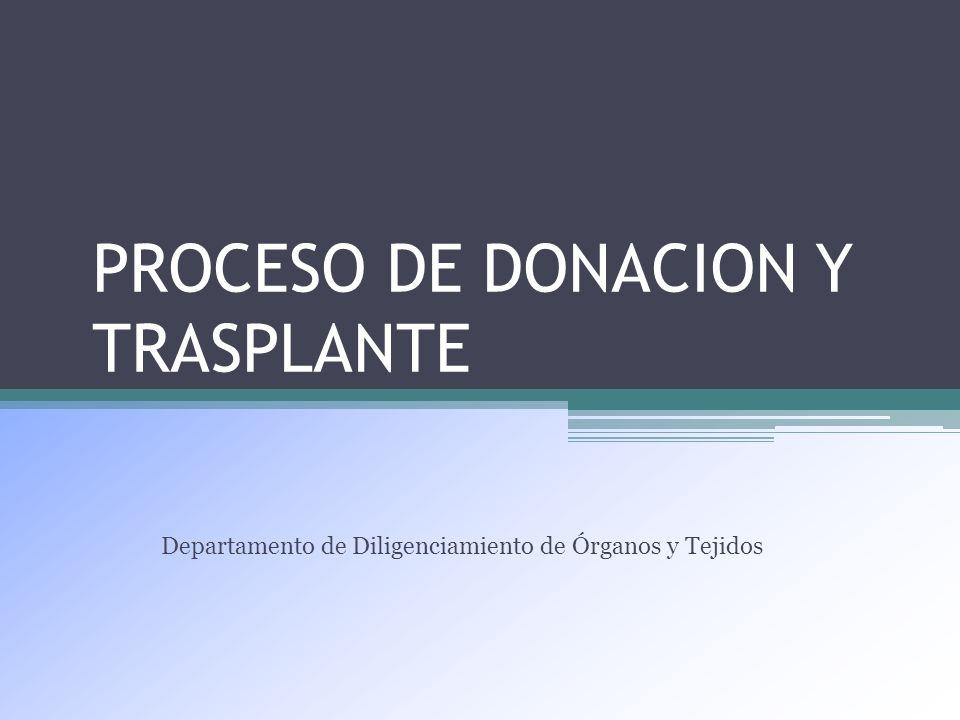 PROCESO DE DONACION Y TRASPLANTE