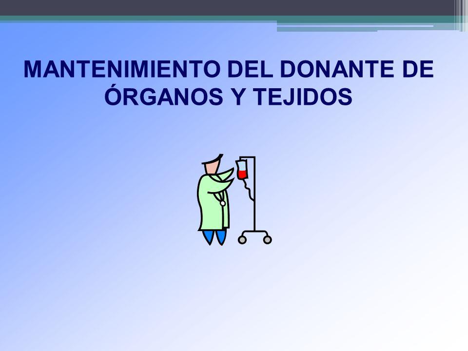 MANTENIMIENTO DEL DONANTE DE