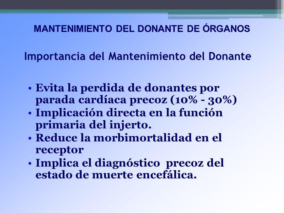 Importancia del Mantenimiento del Donante