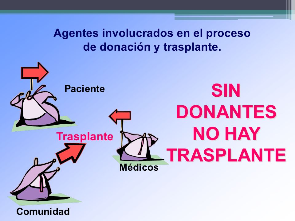 SIN DONANTES NO HAY TRASPLANTE