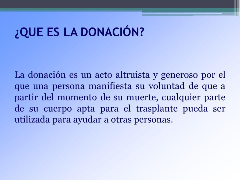 ¿QUE ES LA DONACIÓN