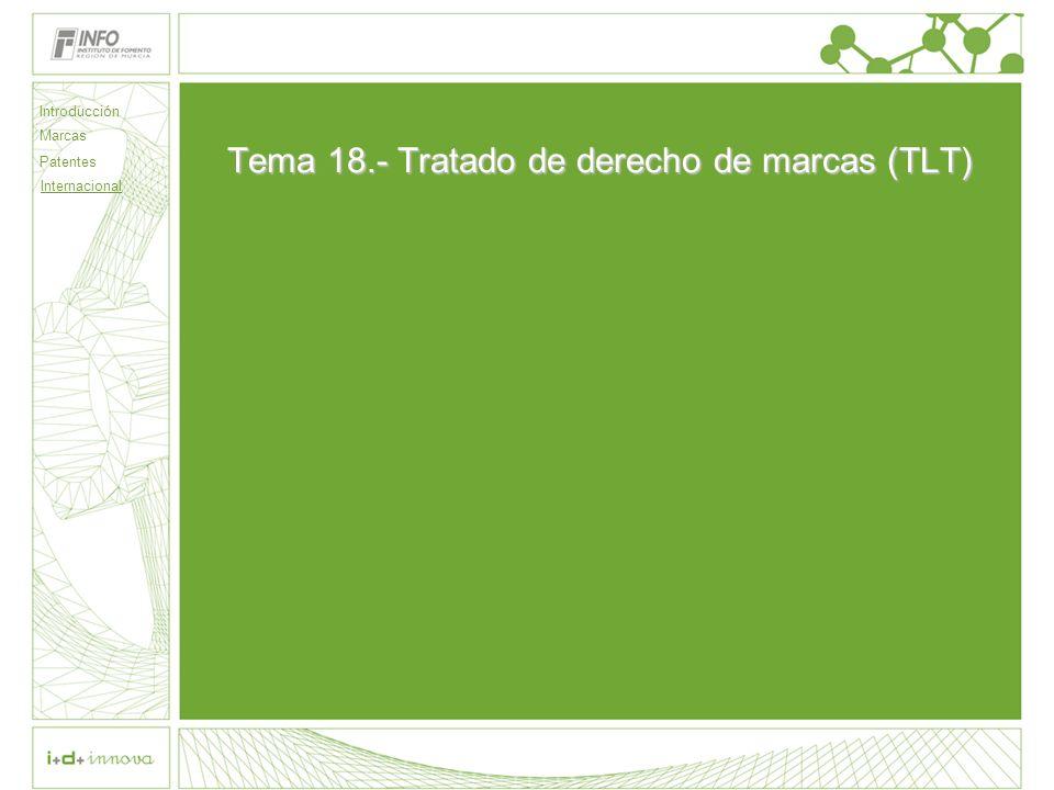 Tema 18.- Tratado de derecho de marcas (TLT)
